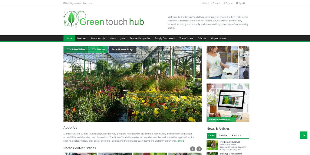 Green-touch-hub